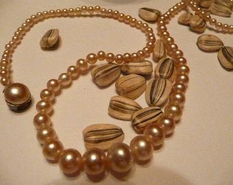 Vintage String of Faux Pearls