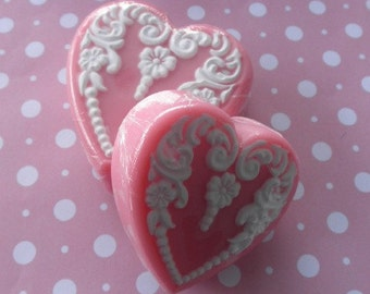 Pink Heart Soap - Small