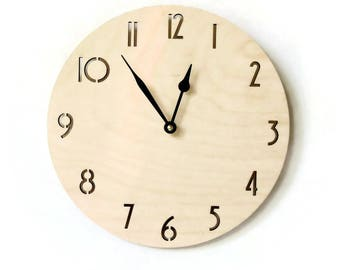 Wood Wall Clocks, Clock With Numbers,  Unique Wall Clock, Decor and  Housewares, Home Decor
