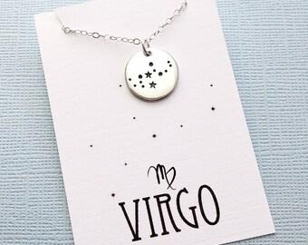 Virgo Jewelry | Virgo Necklace, Zodiac Jewelry, Zodiac Necklace, Constellation Necklace, Astrology Jewelry, Zodiac Sign Necklace, Zodiac