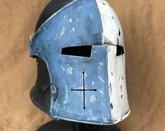 Custom Painted Medieval Knight's Warden Helmet