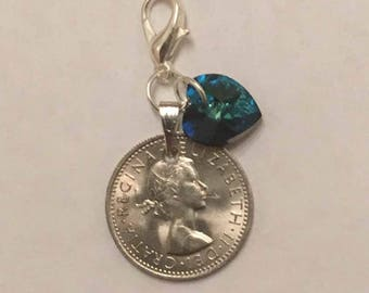 Something Old ..... Lucky Sixpence Bouquet Charm/Wedding/Bridal