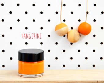 Wood Paint  - Tangerine- 15ml jar - 10 Beautiful Colours Available.