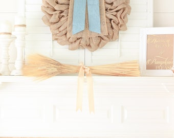 Spring Rustic Double Door Wreaths, French Country Decor, Front Door Wreath for Spring French Door Wreaths