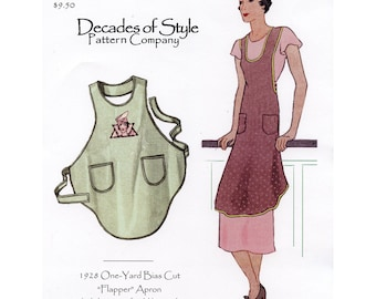 Decades of Style || 1928 Flapper Apron