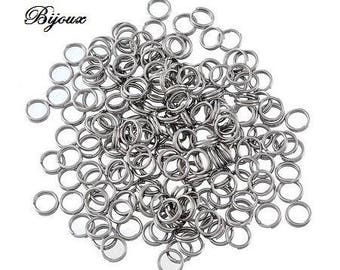 30 stainless steel double rings 6 mm