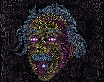 Psychedelic Blacklight Art Blotter UV Fluorescent Glow Psytrip Psyart Backdrop Banner Trippy Visionary Tapestry Acid Tripvision