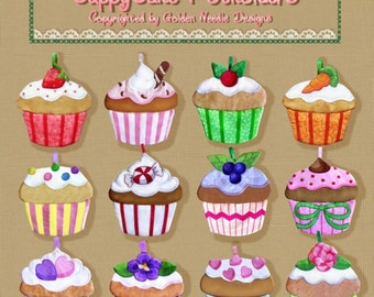 Cupcake Potholder Machine Embroidery Designs