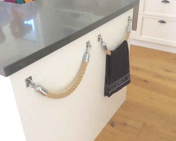 Handtuchhalter Küche seil handtuchhalter rack handgemachte hempex seil für küche