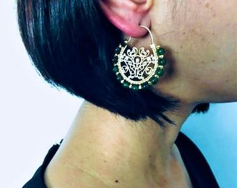 Statement Earrings, Boho Earrings, Filigree Earrings, Dangle Earrings, Drop Earrings, Gift For Her