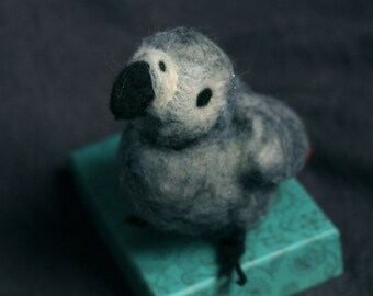 Needle Felted African Grey Parrot
