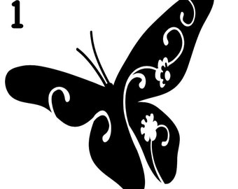 Butterfly Vinyl Decal Sticker - Attach to Any Smooth Surface - Car, Windows, Laptops, walls - Wall Mural - Many Colors & Sizes Available