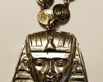 Vintage Pharoah Head Necklace
