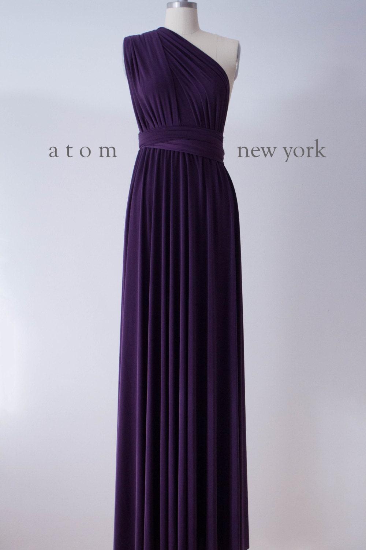 Plum Floor Length Dresses