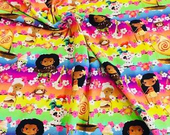 Hawaii princess cotton lycra knit 1/2 yard SALE