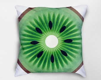 Kiwi Pillow, Kiwi Decor, Fruit Pillow, Green Pillow, Summer Decor, Fruit Decor, Spring Pillows, Dorm Pillows, Food Pillow, Couch pillows