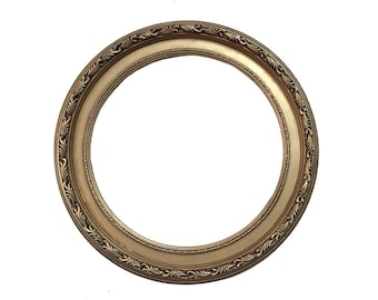 20x20 Round Gold Mirror Frame, Baroque Frame, Wall Mirror, Shabby Chic Frame, Ornate Wall ideas, Wedding Gift, Cottage Frame