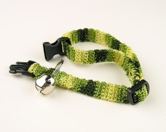 Crochet Cat Collar - Camo Kitty