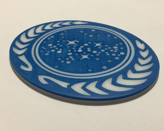 3D Printed XL United Federation of Planets Emblem