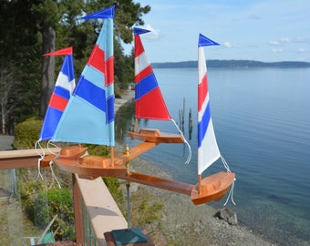 All American Red, White and Blue (4) Boat Double Direction