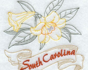 South Carolina Jessamine State Flower Flour Sack Hand/Dish Towel