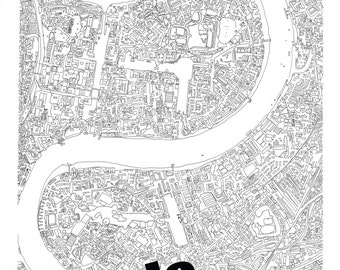 The Thames from above (PRINT) 100x70cm Limited Edition of 15