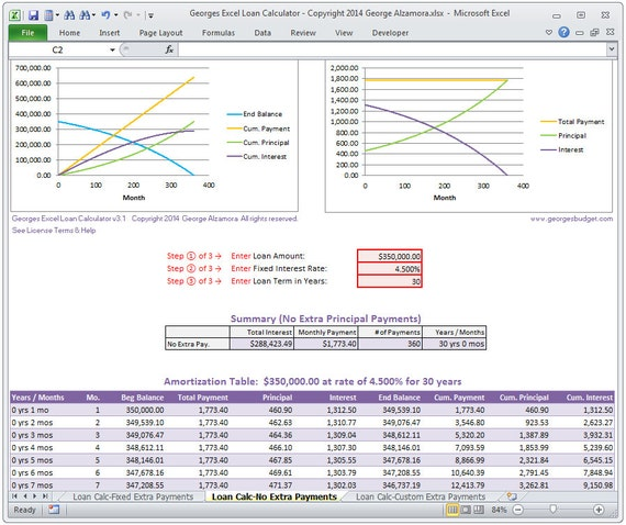 excel loan calculator with extra payments