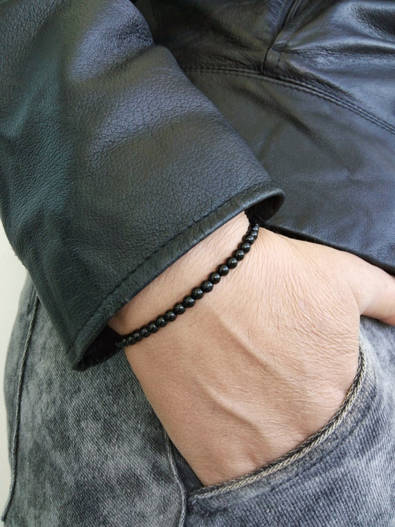 MENS BRACELET Black Onyx Mens Bracelet Mens Jewelry Yoga