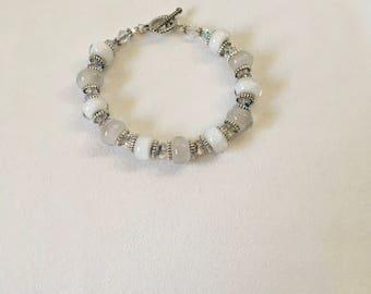 Shades of White Handmade Bracelet