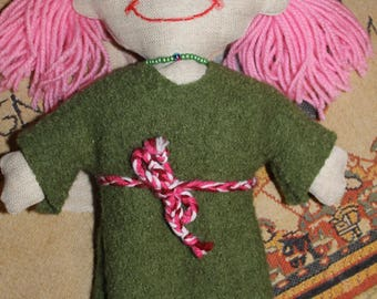 Medieval Princess rag doll dress