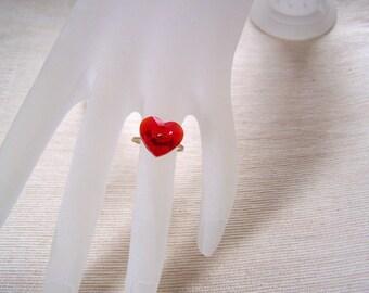 Heart Ring Swarovski Crystal Heart Ring Valentine Sale