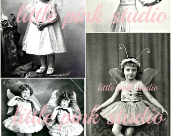 Sweet Little Fairies,  Printable Collage Sheet (digital download, printable)