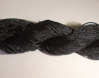 1 skein of yarn braided black nylon 1 mm x 25 m