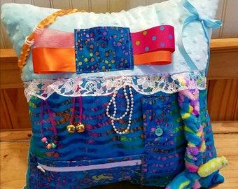 Fidget Pillow, Alzheimers, Sensory Stimulation Activity Pillow
