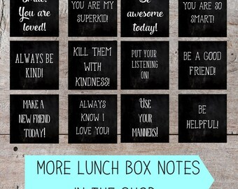 Printable Lunch Box Notes, Inspirational Lunch Box Notes, Funny Lunch Box Notes, Printable Lunch Box Notes, Lunch Box Note Printable