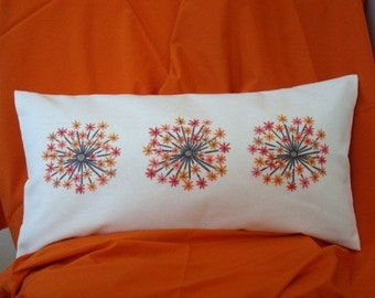 Yellow and Orange Flower Pillow Cover