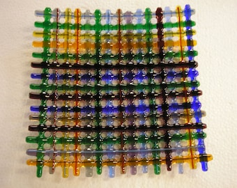 Fused Glass Woven Plate