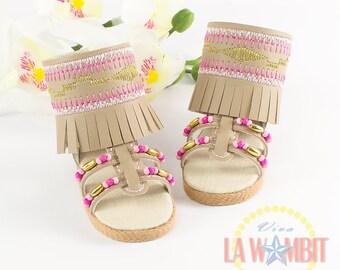 "Pocahontas Sandals pink for Disney Animators 16"" dolls"