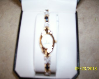 Sapphire and crystal watch by Avon, never worn