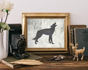 Wolf Art Print - 8x10 Printable Art, Rustic Decor, Wolf Art, Wall Art, Rustic Home Decor, Hunting Decor, Wolf Print