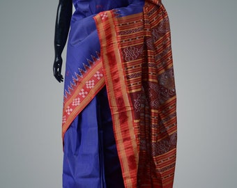 Handwoven ikkat silk saree