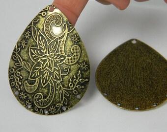 Antique Bronze Chandelier Connector, Chandelier Links, Chandelier Components, Jewelry Supplies, Lead Free Pendant Focal