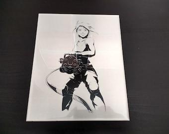"8"" x 10"" Encapsulated Metal Print - Minigun"