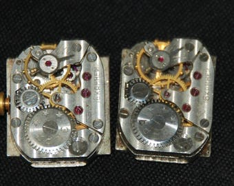 Vintage Antique Watch Movements with dials faces Steampunk Altered Art Assemblage RT 27