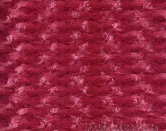 Cranberry Rose Bud Minky