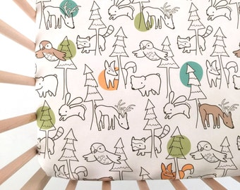 Crib Sheet A Walk in the Woods. Fitted Crib Sheet. Baby Bedding. Crib Bedding. Minky Crib Sheet. Crib Sheets. Deer Crib Sheet.