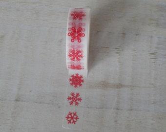 Christmas Washi Tape - Snowflake design - uk seller christmas wrapping