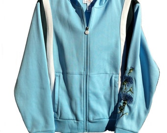 Medium Lily's of Beverly Hills Embroidered Zip-up Hoodie
