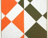 Modern Color Block Quilt - Harlequin - Torch and Coal