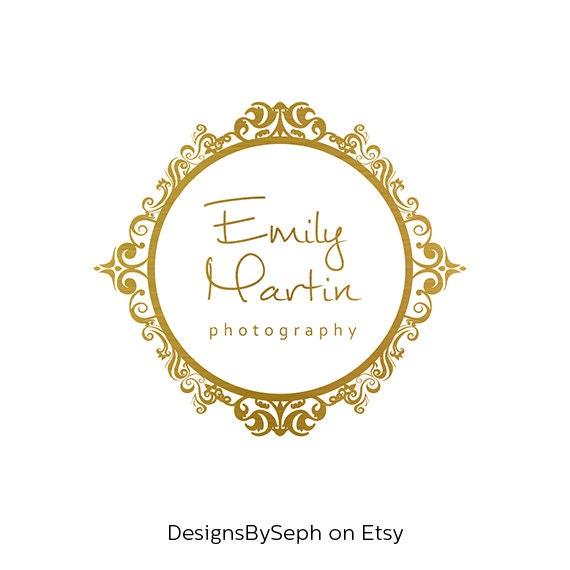 Premade Logo Design & Photography Watermark Gold Logo